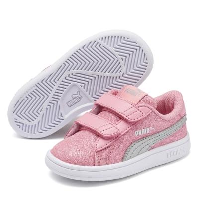 Adidasi sport Puma Smash Glitz pentru fete pentru Bebelusi roz