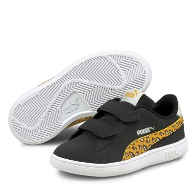 Adidasi sport Puma Smash Roar Child pentru fete negru leopard