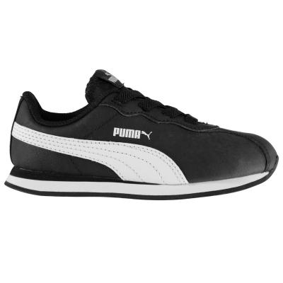 Adidasi sport Puma Turin II pentru Bebelusi negru alb