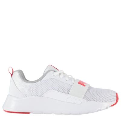 Adidasi sport Puma Wired baieti alb rosu