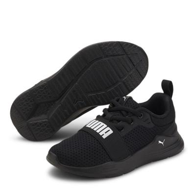 Adidasi sport Puma Wired Run baieti negru alb