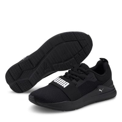 Adidasi sport Puma Wired Run pentru baietei negru alb