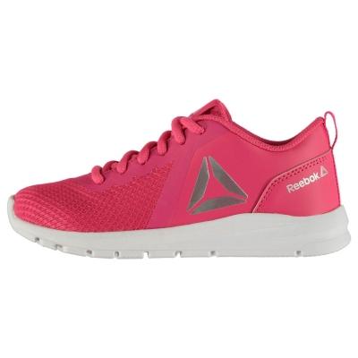 Adidasi sport Reebok ReeRush pentru fetite roz argintiu alb