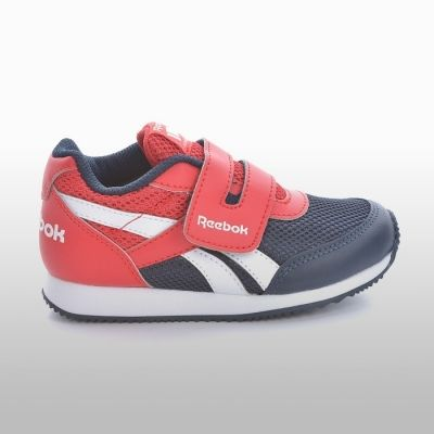 Adidasi sport piele cu arici Reebok Royal Cljog Baietei rosu bleumarin