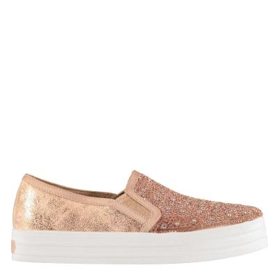 Adidasi sport Skechers DU Glitzy pentru fetite roz auriu