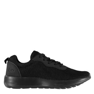Adidasi sport Tapout Clio Run Juniors negru