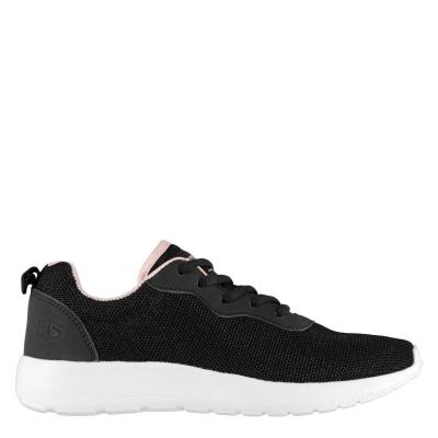 Adidasi sport Tapout Clio Run Juniors negru roz