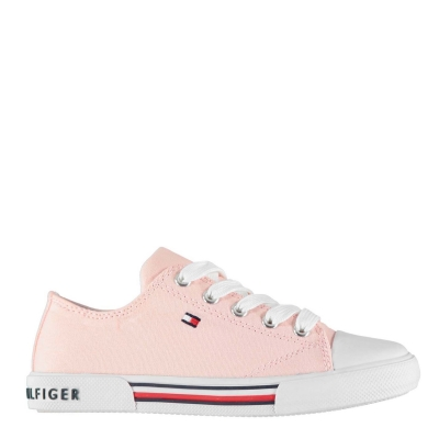 Adidasi sport Tommy Hilfiger Tommy Canvas Low Lace roz