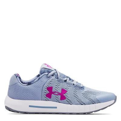 Adidasi sport Under Armour Pursuit BP pentru copii albastru roz