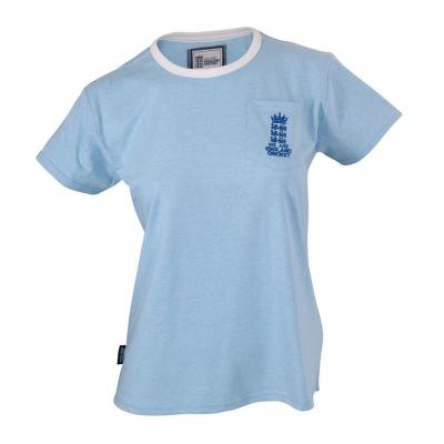 Tricou Anglia Cricket cu guler rotund pentru Femei
