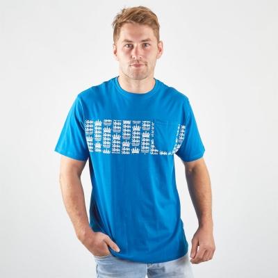 Tricou Anglia Cricket Patriotic cu dungi Cricket pentru Barbati albastru