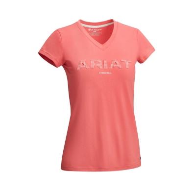 Tricouri Ariat 3D Logo pentru Femei visiniu