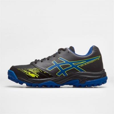 Adidasi hochei pe iarba Asics Blackheath 7 Unisex pentru Copii negru albastru