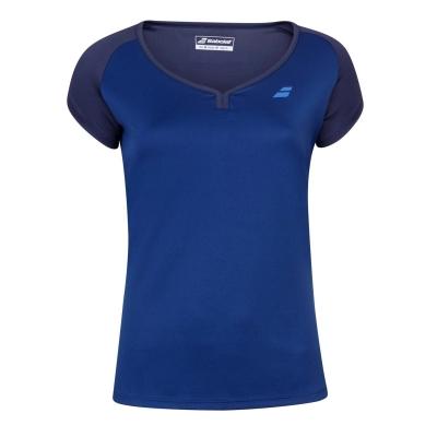 Tricou Babolat Poly maneca scurta pentru femei estate albastru