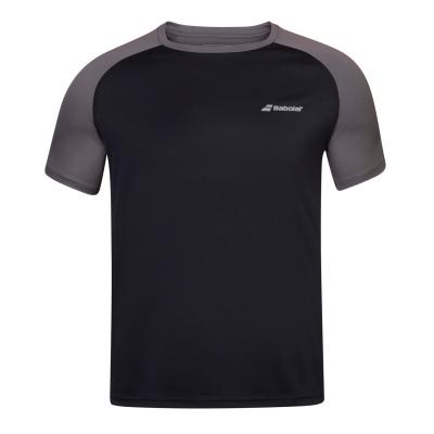 Tricou Babolat Poly cu guler rotund pentru Barbati negru