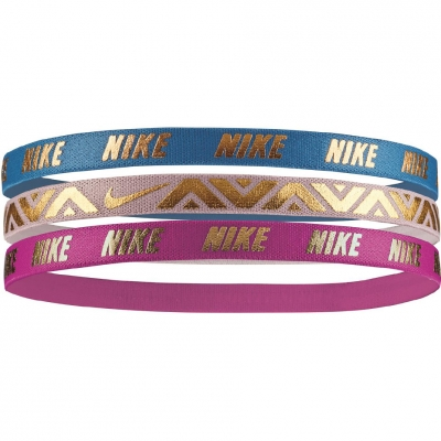 Bandana Nike Hairbands 3 bucati roz turcoaz NJNG8457OS femei