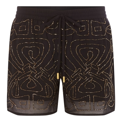 Pantaloni scurti Biba Logo Embellished negru