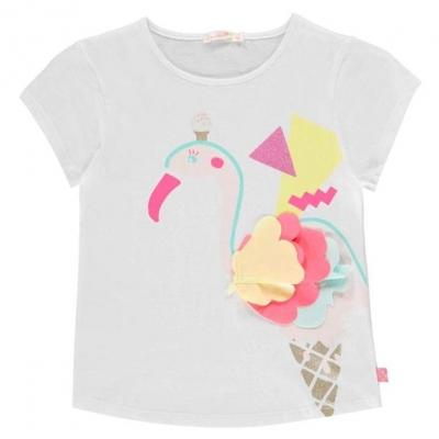 Tricou Billieblush Flamingo alb 10b