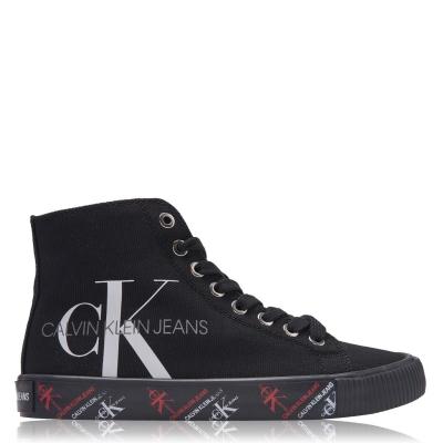 Adidasi inalti Calvin Klein Jeans Danza negru