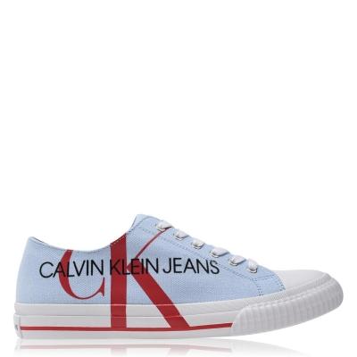 Adidasi sport Calvin Klein Jeans Ivano albastru rosu