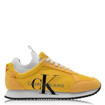 Blugi Adidasi sport Calvin Klein Jemmy Low Top Suede galben chrome