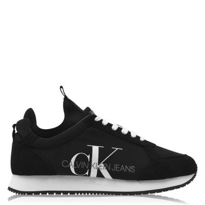 Adidasi sport Calvin Klein Jeans Jemmy Low Top Suede negru