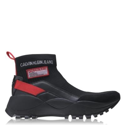 Adidasi sport Calvin Klein Jeans negru rosu