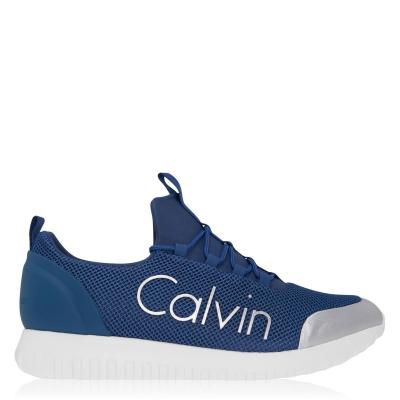 Adidasi sport Calvin Klein Jeans Ron Low Top gri albastru