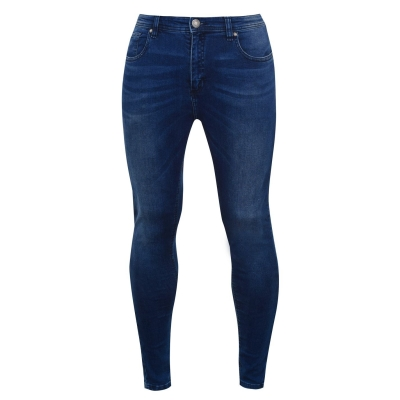 Blugi Airwalk Skinny pentru Barbati inchis albastru