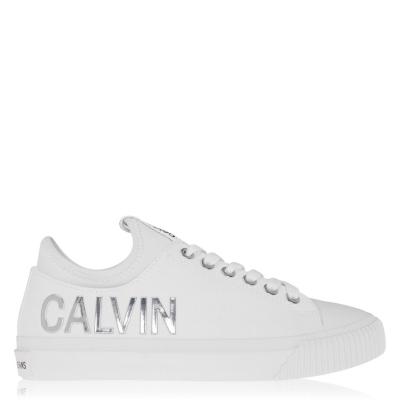 Adidasi sport Calvin Klein Jeans Irisa Low Top alb argintiu