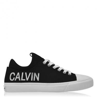 Adidasi sport Calvin Klein Jeans Irisa Low Top negru argintiu