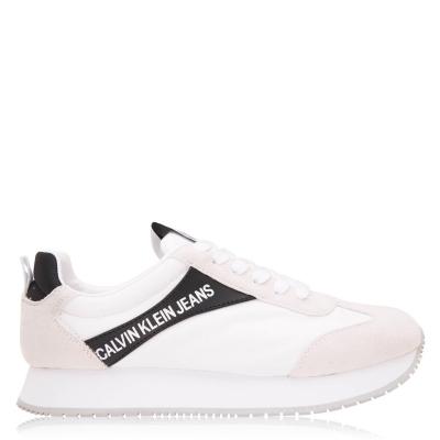 Adidasi sport Calvin Klein Jeans Jerrold Low Top alb negru