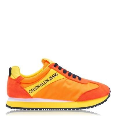 Adidasi sport Calvin Klein Jeans Jerrold Low Top multicolor portocaliu