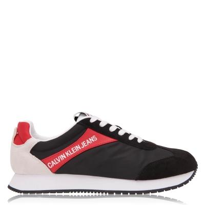 Adidasi sport Calvin Klein Jeans Jerrold Low Top negru rosu