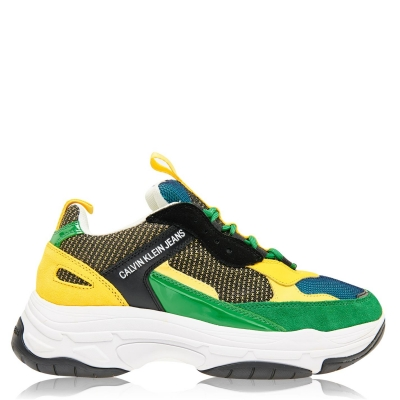 Adidasi sport Calvin Klein Jeans Marvin Nappa Chunky negru verde