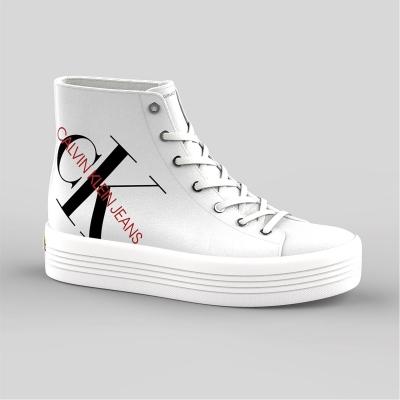 Adidasi inalti Calvin Klein Jeans Zoreda alb
