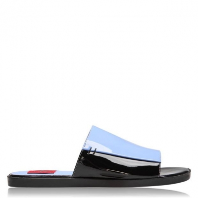 Calvin Klein Jeans Patent Slider albastru
