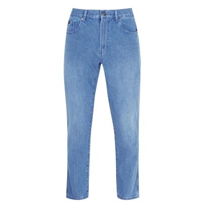 Blugi drepti Pierre Cardin Plain pentru Barbati bright albastru