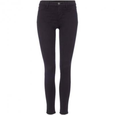 Blugi J Brand Mid rise luxe sateen super skinny in negru