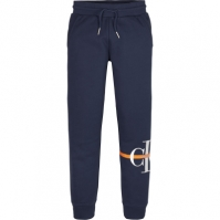 Blugi Pantaloni jogging Calvin Klein Calvin Klein Mono cu dungi albastru
