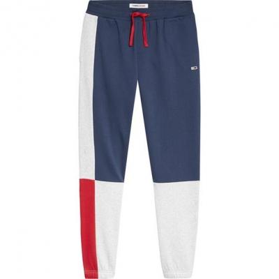 Blugi Pantaloni jogging Tommy Colour Block bleumarin c87