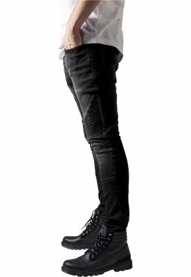 vânzări la cald angro cel mai bine vândut Blugi Slim Fit Biker negru-washed Urban Classics - www.BravoSport.ro