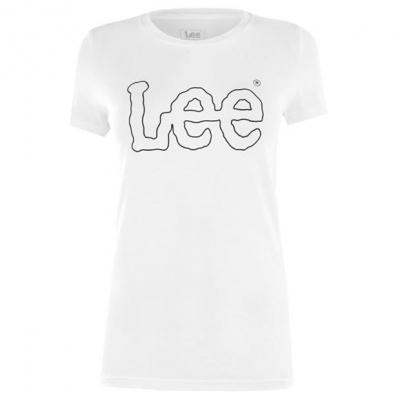 Blugi Tricou cu imprimeu Lee Essential alb off