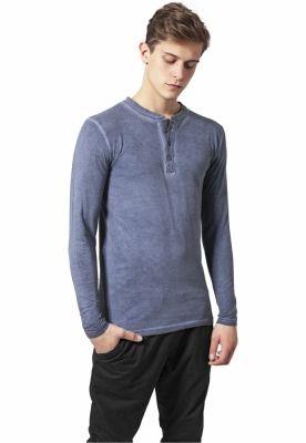 Bluza barbati aspect prespalat albastru denim Urban Classics