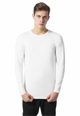 Bluza barbati cu manca lunga fitted alb Urban Classics