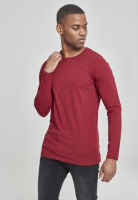 Bluza barbati cu manca lunga fitted rosu burgundy Urban Classics