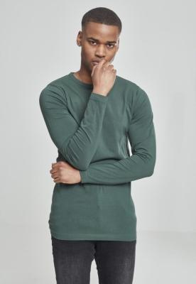 Bluza barbati cu manca lunga fitted verde Urban Classics