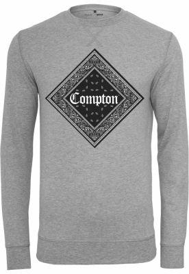 Bluza bumbac barbati Compton gri deschis Mister Tee
