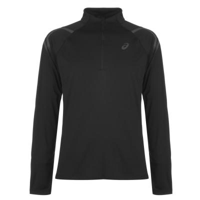 Bluza cu fermoar Asics Icon pentru Barbati negru rosu