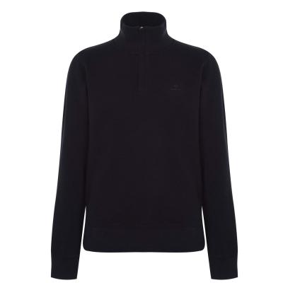 Bluza cu Fermoar Gant Quarter bleumarin